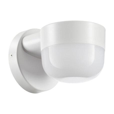 Настенный светодиодный светильник Novotech Street Opal 358450, IP65, LED 12W 4000K 750lm, белый, пластик
