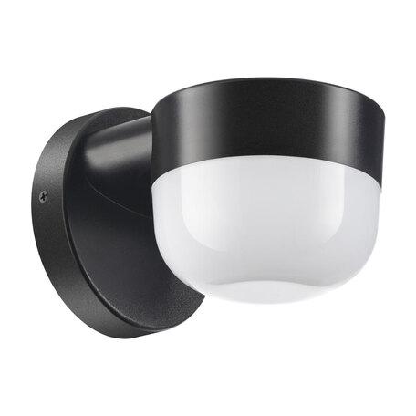 Настенный светодиодный светильник Novotech Street Opal 358451, IP65, LED 12W 4000K 750lm, черный, черный с белым, пластик