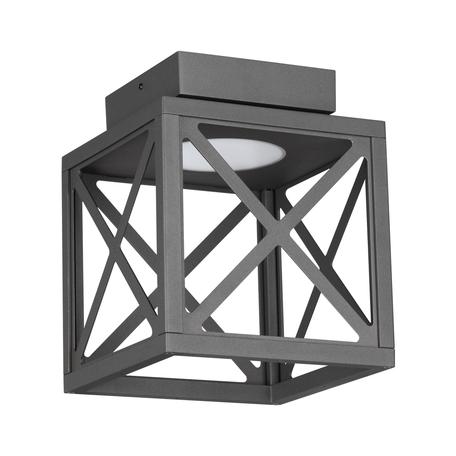 Потолочный светодиодный светильник Novotech Street Dantela 358449, IP54, LED 10W 4000K 500lm, темно-серый, металл