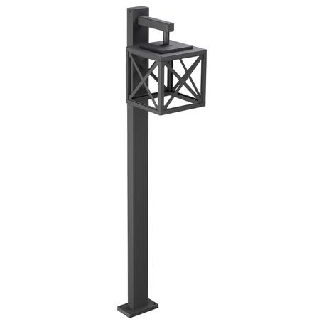 Уличный светодиодный фонарь Novotech Street Dantela 358448, IP54, LED 10W 4000K 500lm, темно-серый, металл