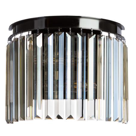 Бра Divinare Nova Cognac 3002/06 AP-2, 2xE14x40W, черный хром, коньячный, металл, хрусталь