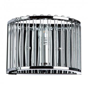 Бра Divinare Campo 3004/02 AP-1, 1xE27x60W, хром, прозрачный, металл, металл со стеклом