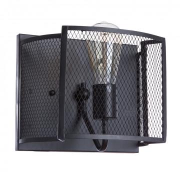 Настенный светильник Divinare Rete 5008/04 AP-1, 1xE27x60W, черный, металл