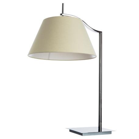 Настольная лампа Divinare Soprano 1341/02 TL-1, 1xE27x60W, хром, бежевый, металл, текстиль