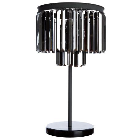 Настольная лампа Divinare Nova Grigio 3002/05 TL-3, 3xE14x40W, серый, дымчатый, металл, хрусталь