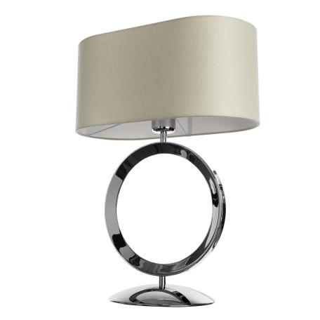 Настольная лампа Divinare Contralto 4069/02 TL-1, 1xE27x60W, хром, бежевый, металл, текстиль