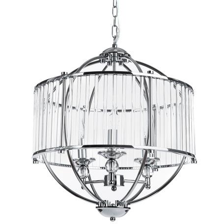 Подвесная люстра Divinare Campo 3004/02 SP-3, 3xE27x60W, хром, прозрачный, металл, стекло