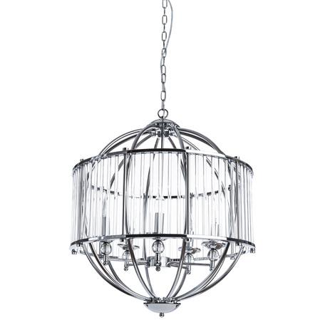 Подвесная люстра Divinare Campo 3004/02 SP-5, 5xE27x60W, хром, прозрачный, металл, металл со стеклом