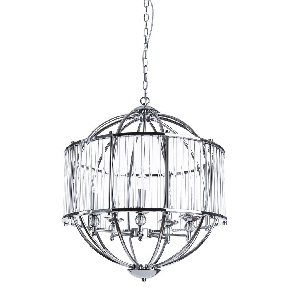 Подвесная люстра Divinare Campo 3004/02 SP-5, 5xE27x60W, хром, прозрачный, металл, металл со стеклом - фото 1