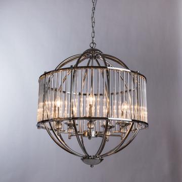 Подвесная люстра Divinare Campo 3004/02 SP-5, 5xE27x60W, хром, прозрачный, металл, металл со стеклом - миниатюра 2