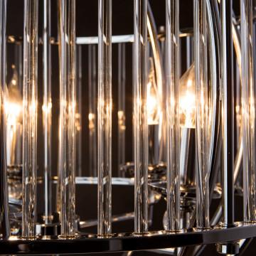 Подвесная люстра Divinare Campo 3004/02 SP-5, 5xE27x60W, хром, прозрачный, металл, металл со стеклом - миниатюра 5