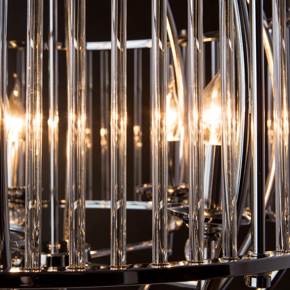 Подвесная люстра Divinare Campo 3004/02 SP-5, 5xE27x60W, хром, прозрачный, металл, металл со стеклом - фото 5