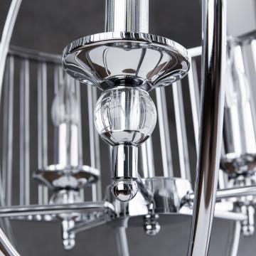 Подвесная люстра Divinare Campo 3004/02 SP-5, 5xE27x60W, хром, прозрачный, металл, металл со стеклом - миниатюра 6