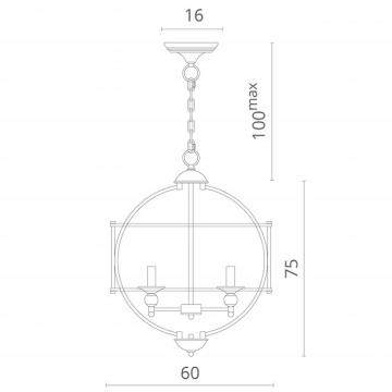 Схема с размерами Divinare 3004/02 SP-5