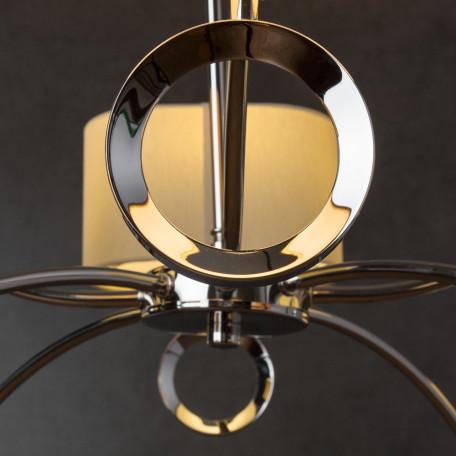 Подвесная люстра Divinare Contralto 4069/02 LM-8, 8xE14x40W, хром, бежевый, металл, текстиль - миниатюра 4
