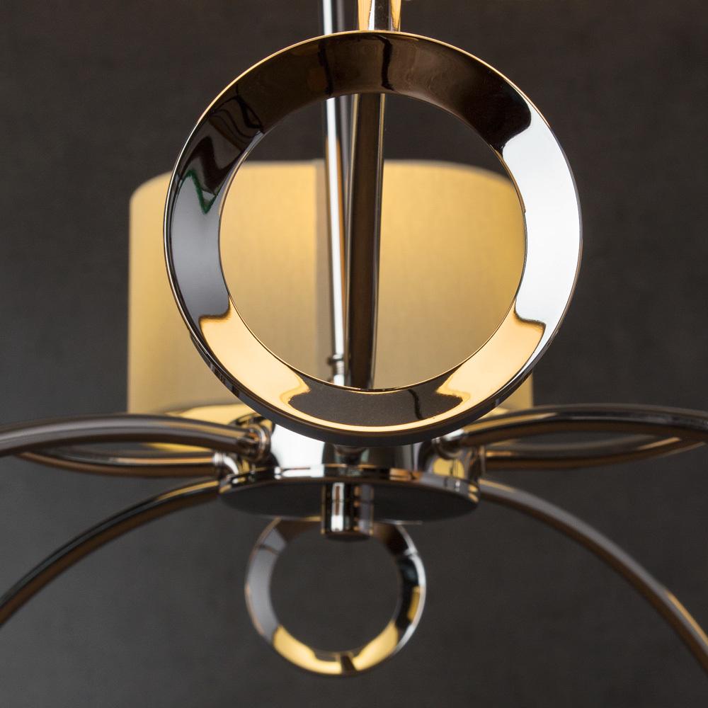 Подвесная люстра Divinare Contralto 4069/02 LM-8, 8xE14x40W, хром, бежевый, металл, текстиль - фото 4
