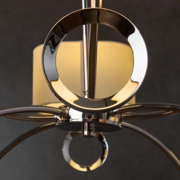 Подвесная люстра Divinare Contralto 4069/02 LM-8, 8xE14x40W, хром, бежевый, металл, текстиль - миниатюра 5