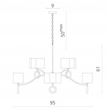 Схема с размерами Divinare 4069/02 LM-8