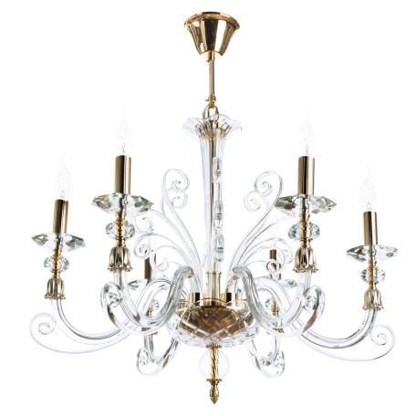 Подвесная люстра Divinare Albedo 8821/09 LM-6, 6xE14x40W, золото, прозрачный, металл, хрусталь