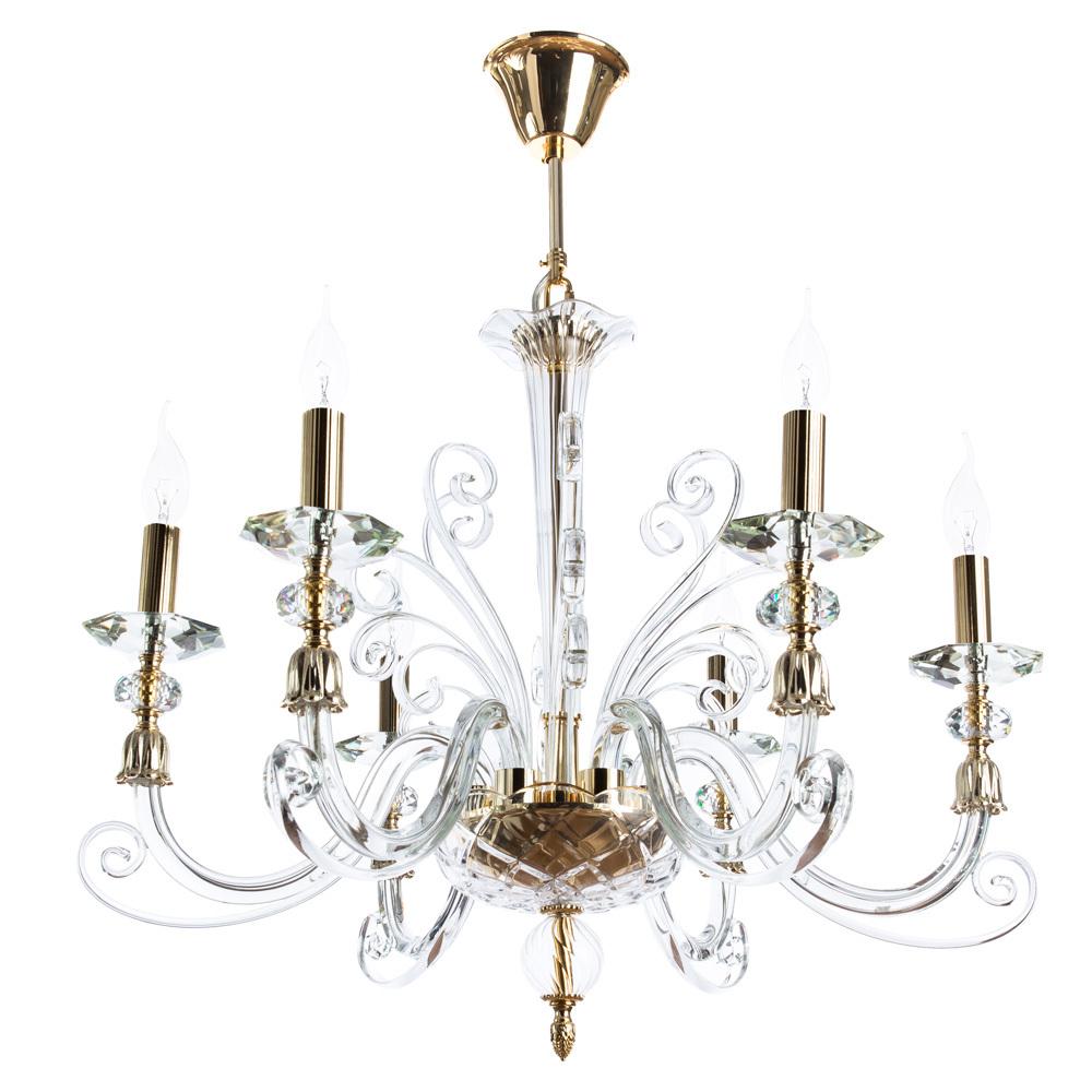 Подвесная люстра Divinare Albedo 8821/09 LM-6, 6xE14x40W, золото, прозрачный, хрусталь - фото 1