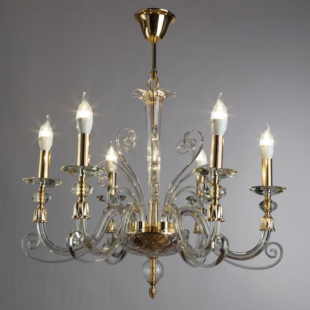 Подвесная люстра Divinare Albedo 8821/09 LM-6, 6xE14x40W, золото, прозрачный, хрусталь - фото 2