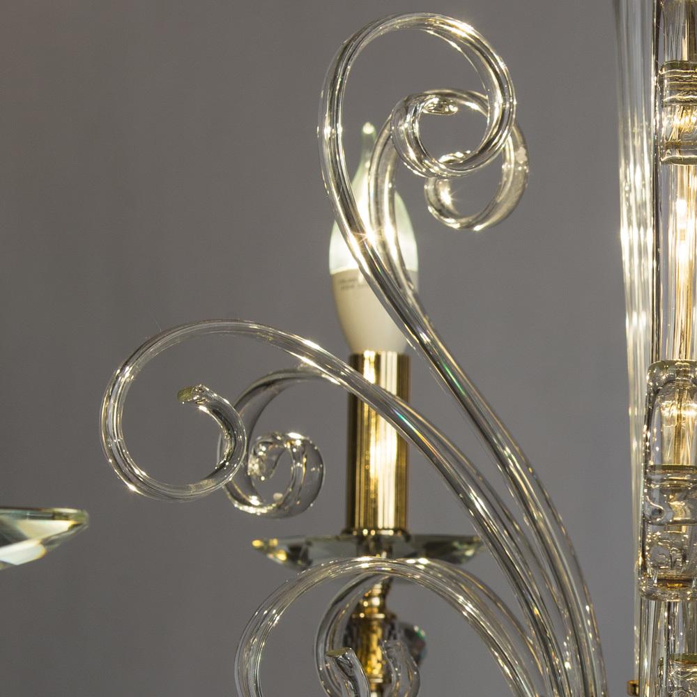 Подвесная люстра Divinare Albedo 8821/09 LM-6, 6xE14x40W, золото, прозрачный, хрусталь - фото 5