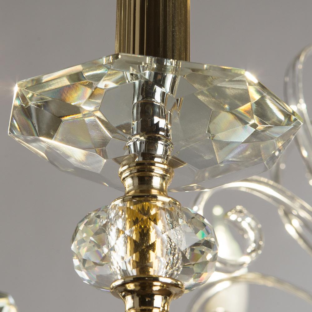 Подвесная люстра Divinare Albedo 8821/09 LM-6, 6xE14x40W, золото, прозрачный, хрусталь - фото 6