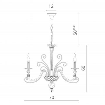 Схема с размерами Divinare 8821/09 LM-6