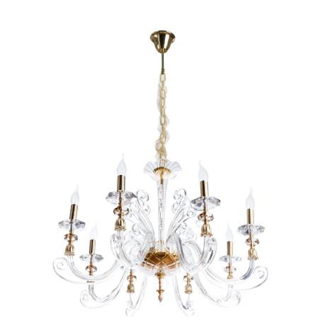 Подвесная люстра Divinare Albedo 8821/09 LM-8, 8xE14x40W, золото, прозрачный, хрусталь