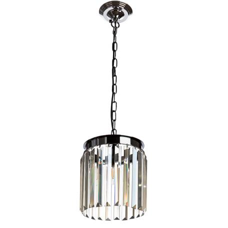 Подвесной светильник Divinare Nova Cognac 3002/06 SP-1, 1xE14x40W, черный хром, коньячный, металл, хрусталь