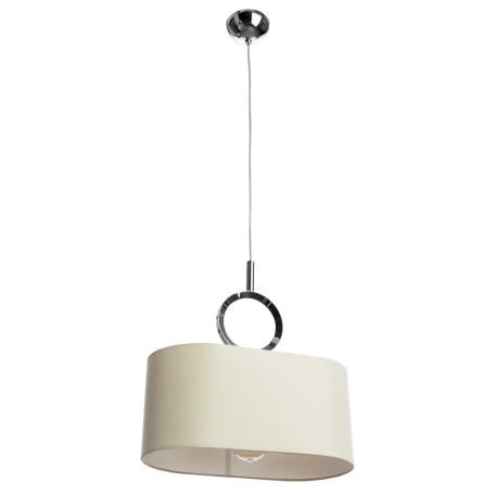 Подвесной светильник Divinare Contralto 4069/02 SP-1, 1xE27x60W, хром, бежевый, металл, текстиль
