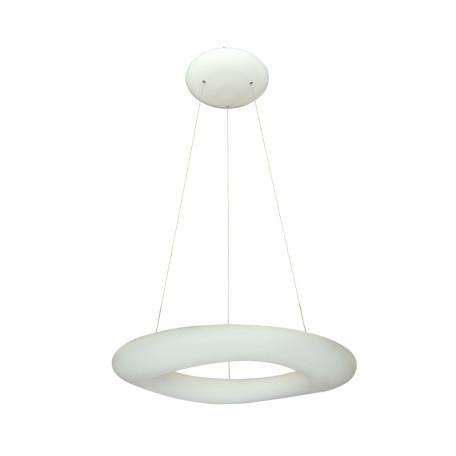 Подвесной светодиодный светильник Divinare Levita 8003/75 SP-1, LED 80W 3000K 6000lm CRI≥80, белый, металл, пластик