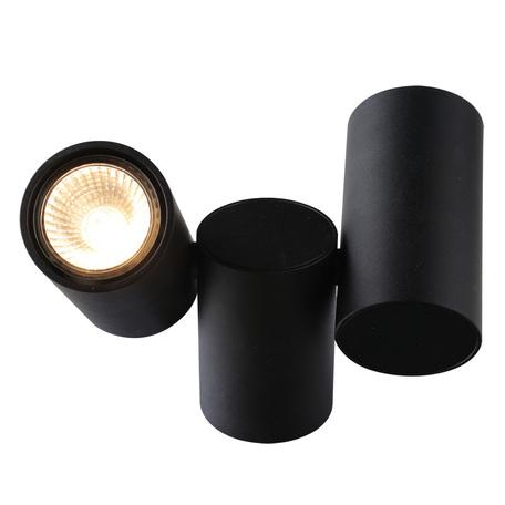 Потолочный светильник с регулировкой направления света Divinare Gavroche 1354/04 PL-2, 2xGU10x50W, черный, металл