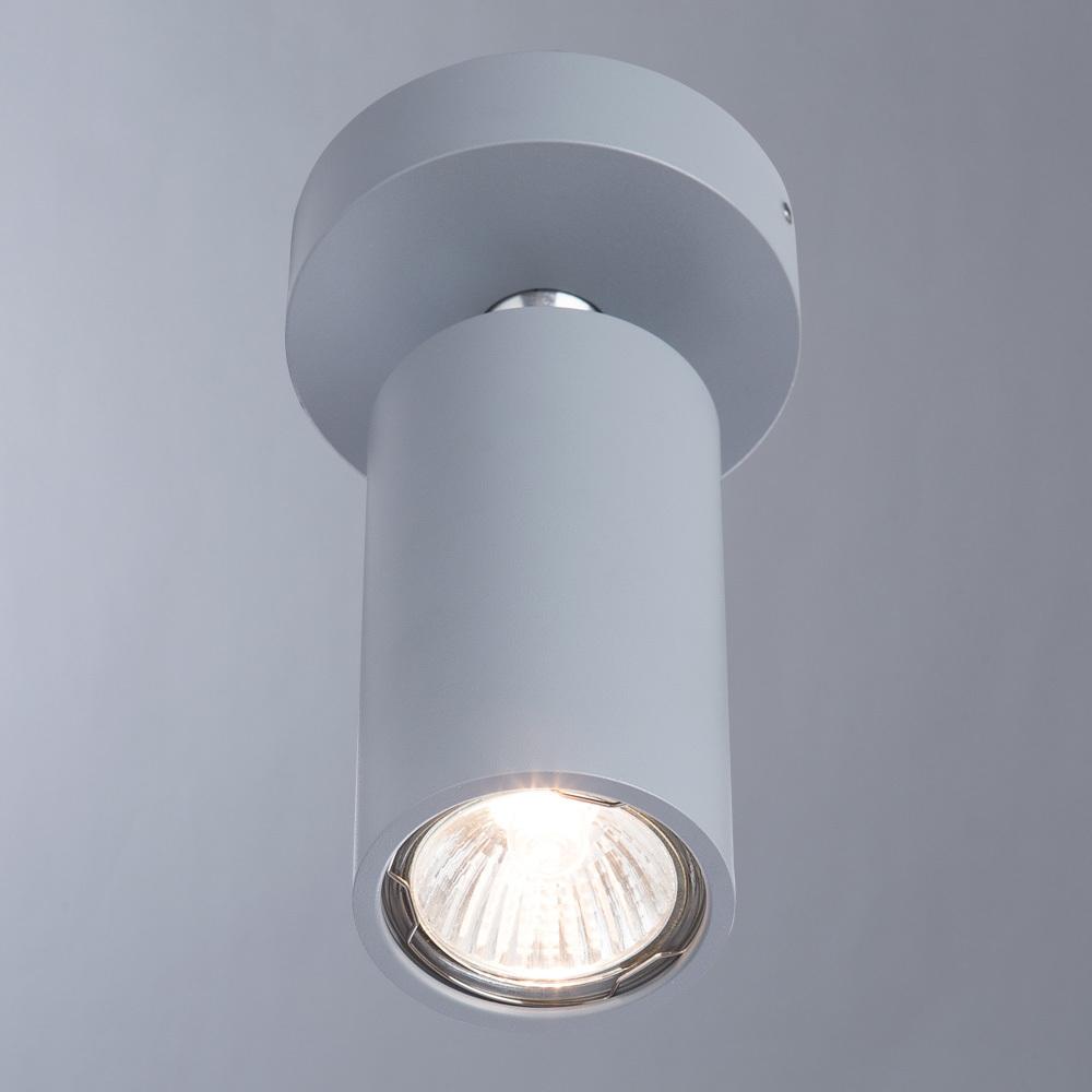 Потолочный светильник с регулировкой направления света Divinare Gavroche Volta 1968/05 PL-1, 1xGU10x50W, серый, металл - фото 2