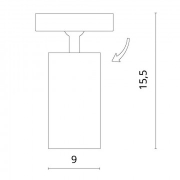 Схема с размерами Divinare 1968/05 PL-1