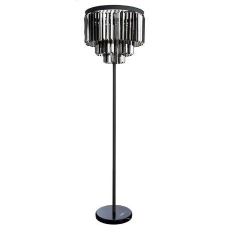 Торшер Divinare Nova Grigio 3002/05 PN-6, 6xE14x40W, серый, дымчатый, металл, хрусталь