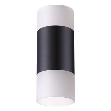 Потолочный светодиодный светильник Novotech Over Elina 358319, LED 10W 4000K 750lm, черный, черно-белый, металл с пластиком