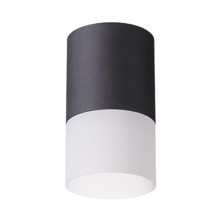 Потолочный светильник Novotech Over Elina 370678, 1xGU10x9W, черный, черно-белый, металл с пластиком