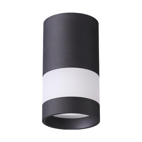 Потолочный светильник Novotech Elina 370680, 1xGU10x9W, черный, черно-белый, металл с пластиком