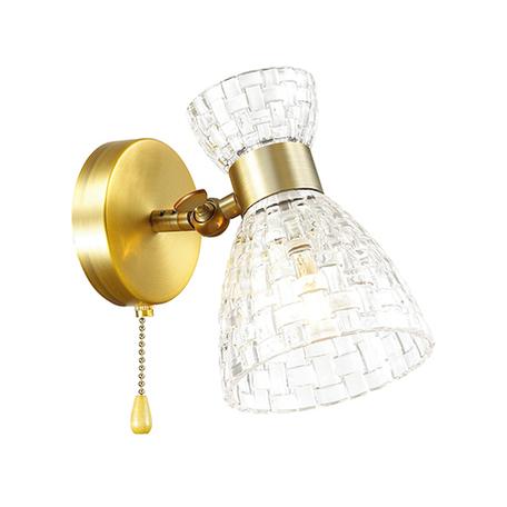 Настенный светильник с регулировкой направления света Lumion Comfi Jackie 3704/1W, 1xE14x40W, бронза, прозрачный, металл, стекло