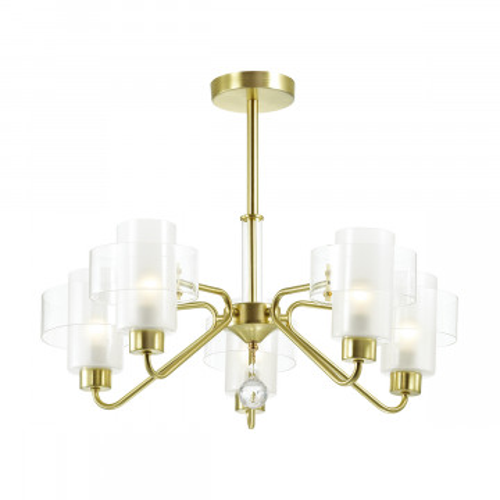 Потолочная люстра Lumion Comfi Drew 3705/5C, 5xE14x40W, матовое золото, белый, металл, стекло