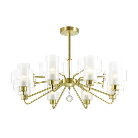 Потолочная люстра Lumion Comfi Drew 3705/8C, 8xE14x40W, матовое золото, белый, металл, стекло