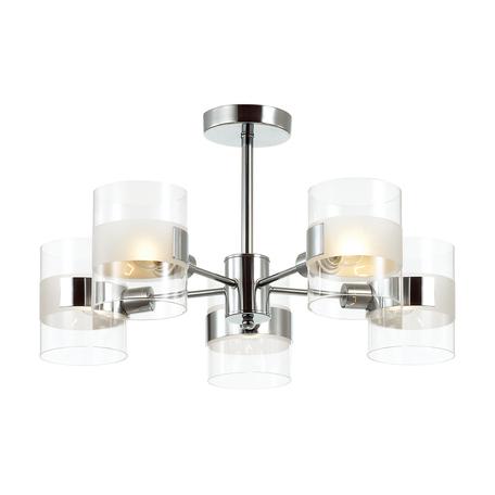 Потолочная люстра Lumion Moderni Runa 3706/5C, 5xE14x40W, хром, прозрачный, металл, стекло