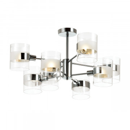 Потолочная люстра Lumion Moderni Runa 3706/8C, 8xE14x40W, хром, прозрачный, металл, стекло
