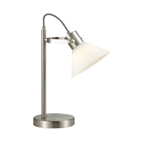 Настольная лампа Lumion Moderni Effi 3707/1T, 1xE14x40W, никель, белый, металл, стекло