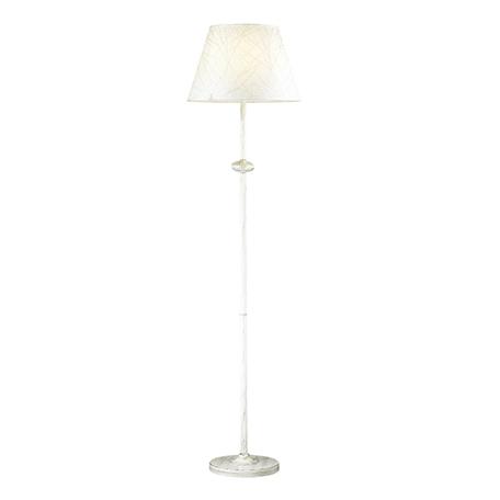 Торшер Lumion Comfi Blanche 3686/1F, 1xE27x60W, белый с золотой патиной, белый, металл, текстиль