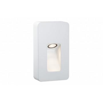 Настенный светодиодный светильник Paulmann Slot LED 93809, IP44, LED 2,4W, белый, металл