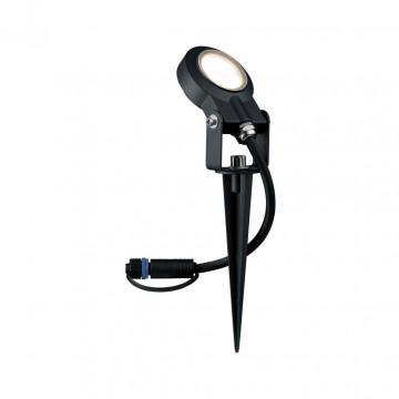 Светодиодный прожектор с колышком Paulmann Plug & Shine Spotlight Sting 93934, IP67, LED 6W, черный, металл