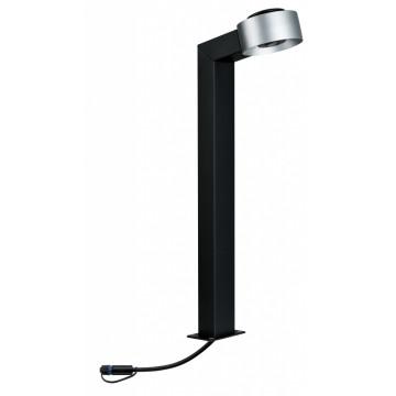 Садово-парковый светодиодный светильник с колышком Paulmann Plug & Shine Cone 93913, IP67, LED 4,3W, черный, серебро, металл