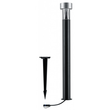 Садово-парковый светодиодный светильник с колышком Paulmann Plug & Shine Cone 93915, IP67, LED 8,2W, черный, серебро, металл